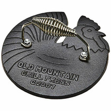 Old Mountain Cast Iron Rooster Grill Press