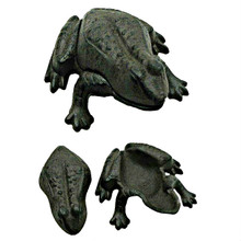 Black Cast Iron Hide A Key Garden Frog