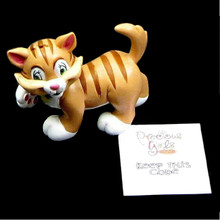 Precious Moments Girls Club Collectible Toppit Cat Figurine