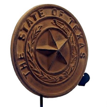 Cast Iron State of Texas Seal Plaque