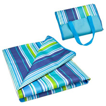 "Sol Coastal Beachcomber Striped 2 in 1 Beach Bag and 79"" x 59"" Blanket SBEA-403"