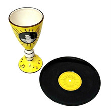 Elvis Presley Collectible 1954 Thats All Right Ceramic Goblet and Plate