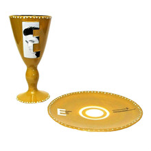 Elvis Presley 2002 Goblet and Plate 25th Anniversary of Kings Death