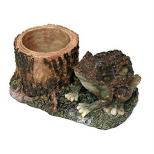 Frog Planter with Tree Bark Texture