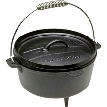 Old Mountain Cast Iron 4 Quart Dutch Oven with Feet