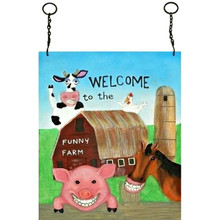 Welcome To The Funny Farm Wall Plaque