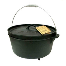 Old Mountain Cast Iron 12 Quart Dutch Oven with Feet