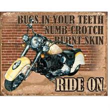 Motorcycles We Ride On Despite... Tin Sign