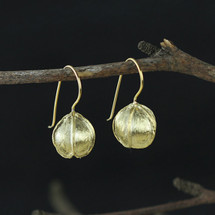 Gold Plated Sterling Silver Flower Bud Earrings
