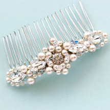 Whitney faux pearl and crystal comb