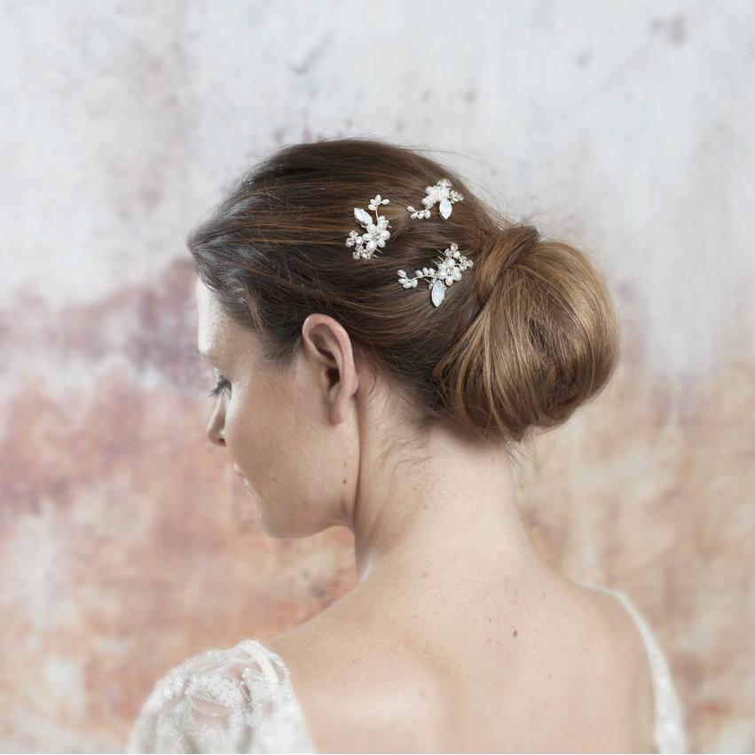 Winifred Set Of 3 Hair Combs | Bridal Hair Accessories By Lily Luna | Edinburgh | Scotland