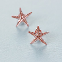 Tina Kotsoni - Rose Gold Starfish Stud Earrings