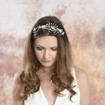 Imelda silver and pearl art deco headpiece