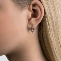 ASTERIAS oxidized textured studs Earrings