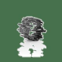 Cygnus Oxidised Silver Geometric 404 OX Ring