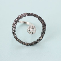 Tina Kotsoni - Oxidised Silver Abstract Ring