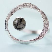 Tina Kotsoni - Sterling Silver Tourmaline Quartz Gemstone Ring