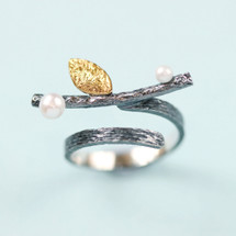 Cyttaro - Sterling Silver Twig Ring