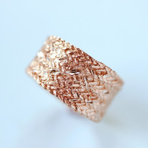 Tina Kotsoni - Hammered Rose Gold Ring