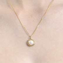 Theodora Gold Plated and Pearl Necklace and Earring Set