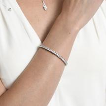Arleen Square Cut Diamante Bracelet