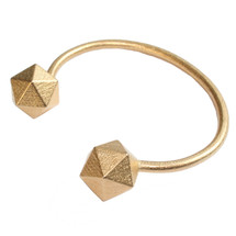 'GEOM' Gold Plated Bracelet Bangle