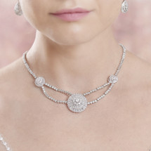 Bree Statement 1920's Art Deco Short Diamante Choker Necklace