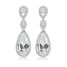 Zara Teardrop Bridal Earrings