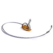 Shi_Kou_Er_Jiong_sterling_silver_rabbit_head_necklace_gold_plating