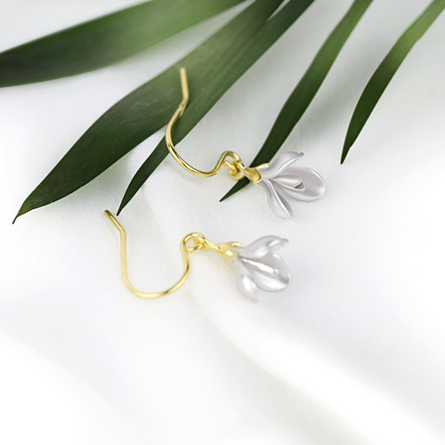 Shi_Kou_Er_Jiong_handmade_delicate_flower_earrings_sterling_silver_gold_plating