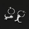 hanging_cat_kitten_hooped_earrings_statement_sterling_silver_handmade