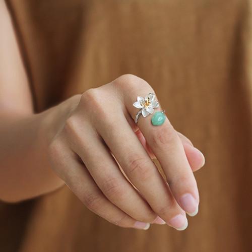 sterling_silver_lotus_flower_jade_stone_green_ring_handmade