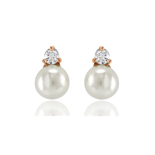 earrings_studs_rose_gold_plated_faux_pearls_diamante_vintage_classic
