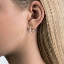 AURUM - ASTERIAS Plain Silver Earrings