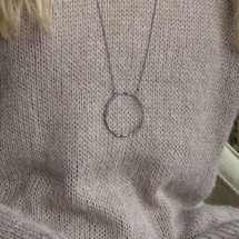 Tina_Kotsoni_handmade_sterling_silver_oxidised_circle_long_necklace_Greece_Greek