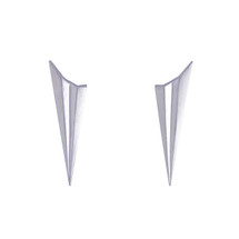 Alice_Barnes_handmade_sterling_silver_pleated_earrings_pointy_statement