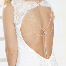 Seeds of Love Bridal Dress Backdrop Necklace Pendant (AR096)
