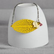 Birch Tree Leaf Necklace