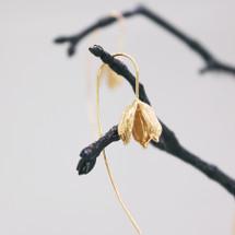 18ct Gold over Silver Long Flower Head Earrings