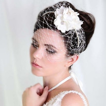Romantic 'Flora' Headpiece Bridal Birdcage