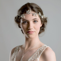 Rufford diamante wedding hair vine with pearls rustic vintage statement