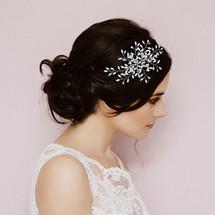 Wisteria unsymmetrical Pearl Headband