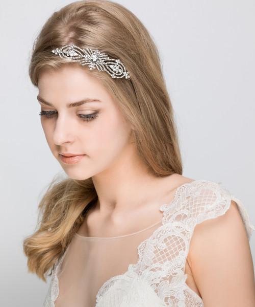 Artemis vintage diamante wedding bridal headband