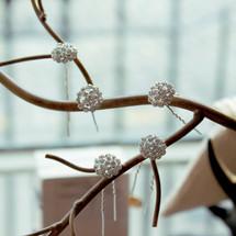 'Beautiful Pippa' Crystal Flower Bridal Hair Pins