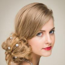 'Lilibeth' Stardust Crystal Hair Pins