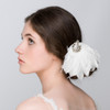 amelia feather art deco vintage hair clip wedding hair adornment
