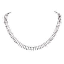 'Hella' Diamanté Due Drop Full Necklace