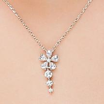 wedding Dainty Bridal Flower Crystal Pendant