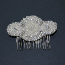 'Victoria' Art Deco Pearl and Bead Hair Comb