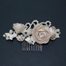 Romantic 'Katherine' Cream Rose Hair Comb